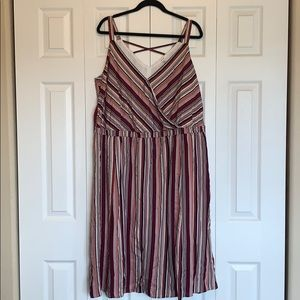 Maurice's faux wrap striped dress